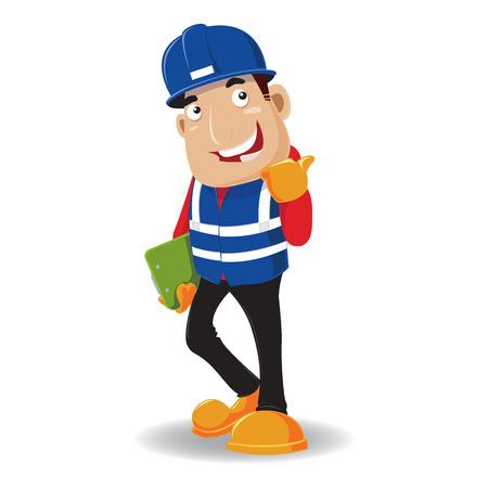 mechanic man: engineer  vector - character design Illustration