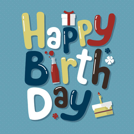 Happy Birthday Everybody - Vector illustrator