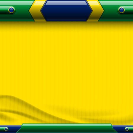 Football Brazil 2014 abstract background - vector illustration