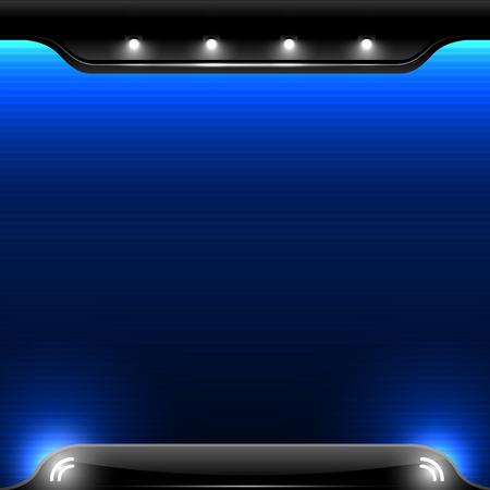 Abstract blue Light Background - vector illustration 向量圖像