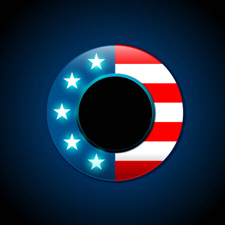 American flag concept with the American flag in a circle shape 向量圖像