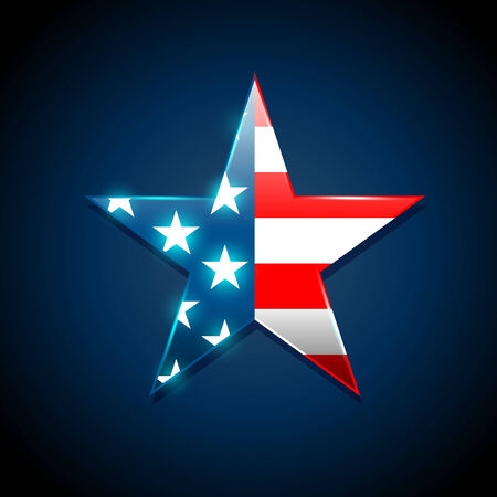 American flag concept with the American flag in a Star shape