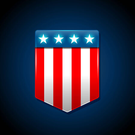 trapezoid: American flag concept with the American flag in a trapezoid shape