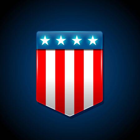 trapezoid: Concepto de bandera estadounidense con la bandera americana en una forma trapezoidal