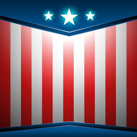 American flag abstract color background vector Ilustração