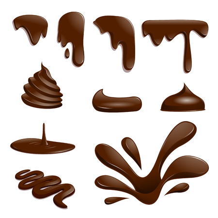 Set of chocolate drops - vector illustration Vectores
