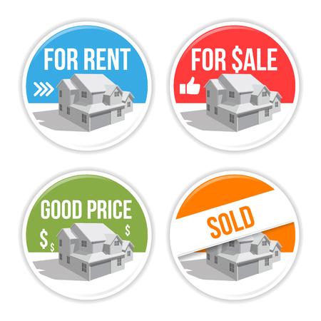 real estate emblem set - vector