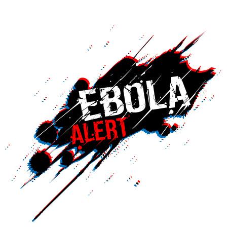 Ebola grunge on ink splash background - vector illustration 向量圖像