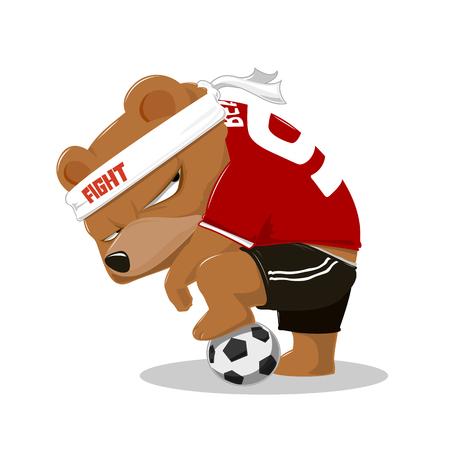 hey guys i like soccer - Vector illustration