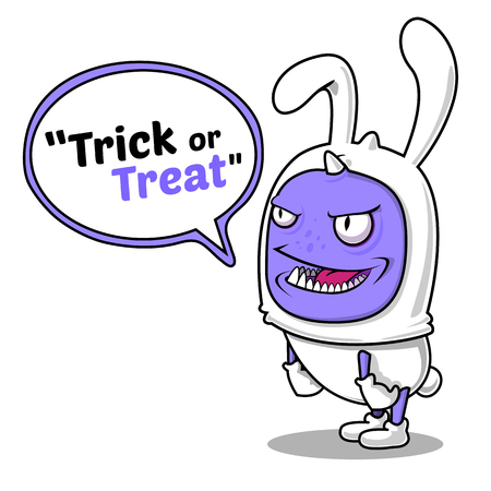 treating: Trick or Treat By Rabbit Monster