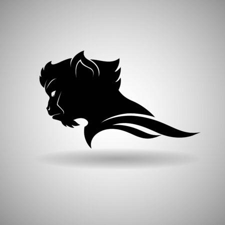 Black Monkey Head Design dark outline