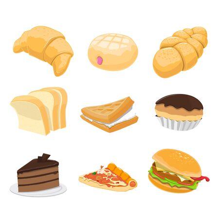 9 Delicious Dessert Vector set
