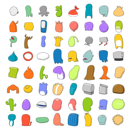 animal body part: Ultimate Cartoon Bodies Collection - vector illustration