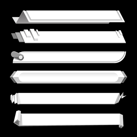 White lower third banner bar screen broadcast - vector illustration