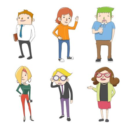 A group Office Employee Characters Vectors