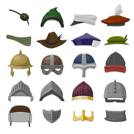 Funny Cartoon Hat set - vector illustration Ilustração
