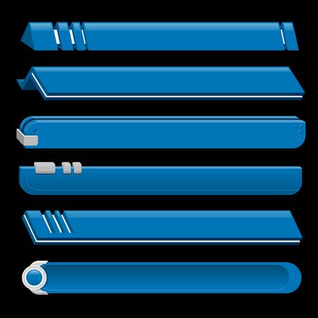 lower: Blue lower third banner bar screen broadcast - vector illustration