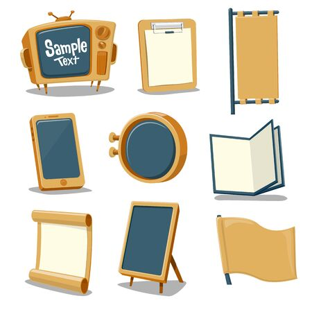Collection cartoon Signs - vector illustration