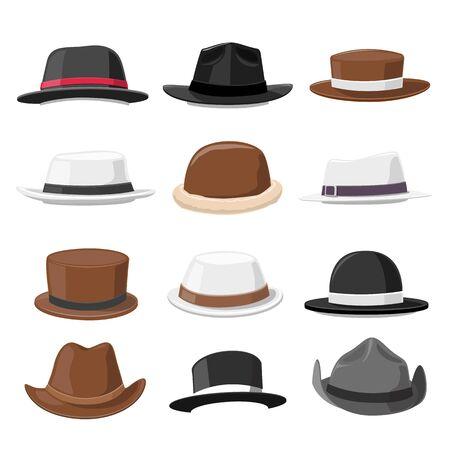 Vintage hat Collection vector illustration
