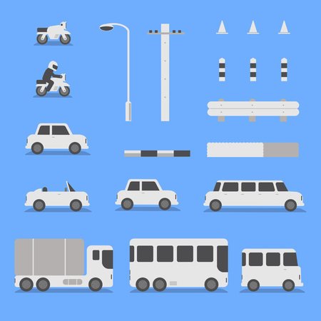 Transport vehicles collection - Vector illustration