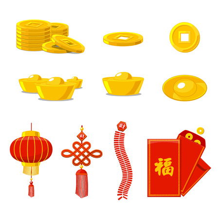 Chinese New Year collection vector illustration
