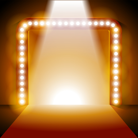 Archway Lighting Background with Spot Light Effects - vector illustration