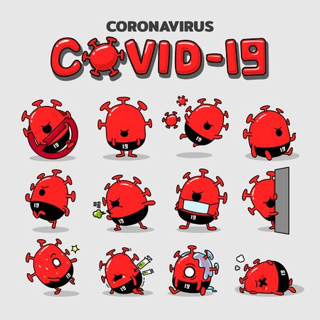 Cartoon Coronavirus Character Vector Illustration