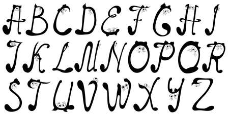 The alphabet looking like cats Banque d'images