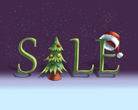 Sale banner digital illustration Banque d'images