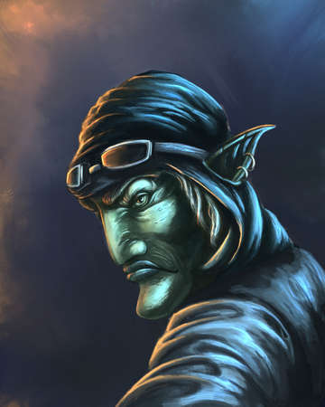 The fantasy character digital illustration Banque d'images