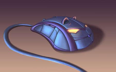 Fantasy computer mouse digital illustration Banque d'images
