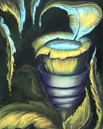 The fantasy flower digital illustration