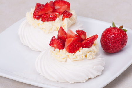 Strawberry Meringues Dessert Pavlova