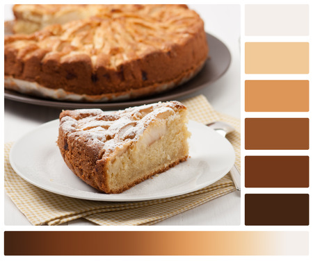 complimentary: Home Baked Apple Pie. Palette With Complimentary Colour Swatches.