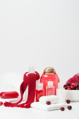 productos de aseo: Champ�, jab�n de barra y l�quido. Art�culos de higiene, Spa Kit, Toallas. Bufanda hecha a mano. Ar�ndanos.