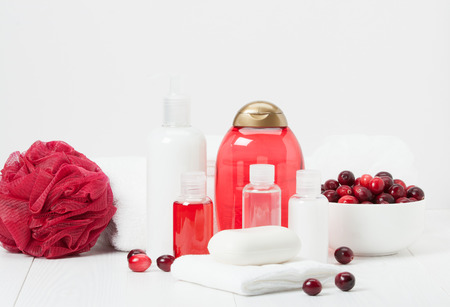 productos de aseo: Champú, jabón de barra y líquido. Artículos de higiene, Spa Kit, Toallas. Arándanos agrios.