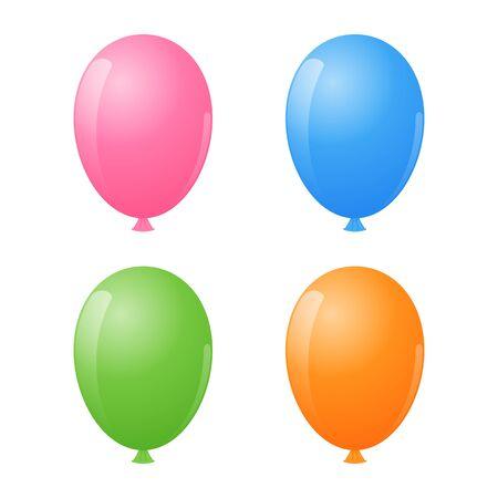 air: Air Balloon Set. Illustration