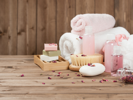 wisps: Soap Bars, Towels, Wisps. Body Care Kit. Dried Rose Petals