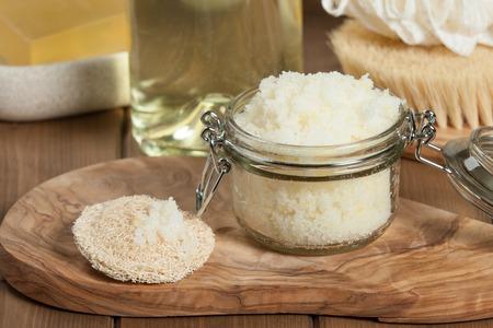 productos de aseo: Hecho a mano Scrub limón con aceite de coco. Artículos de higiene, Spa Set