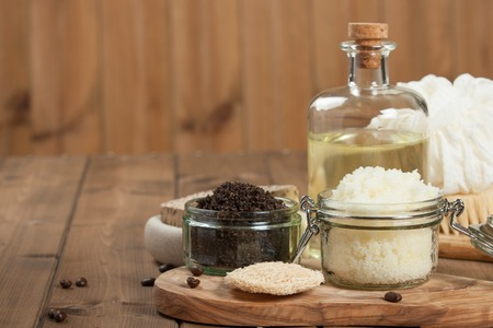 Handmade Coffee Scrub And Lemon Scrub With Coconut Oil. Toiletries, Spa Set