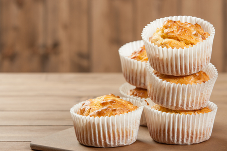 Homebaked Ham And Cheese Muffins In Paper Cases