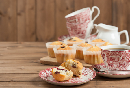 Home Baked Muffins With Coconut, Cranberry, White Chocolate