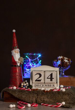 Christmas Calendar With Sparklers And Christmas Decor