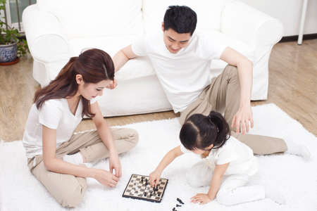 Family having fun together Banco de Imagens
