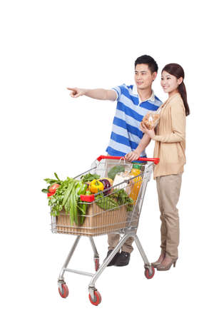 Young Couple Grocery Shopping