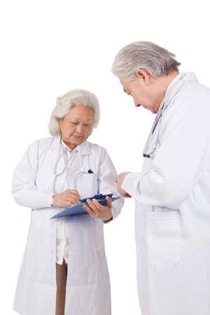 Portrait of two senior doctors Stock fotó