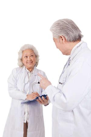 Portrait of two senior doctors