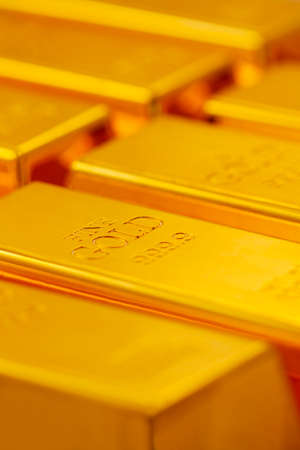 Bullion gold close up