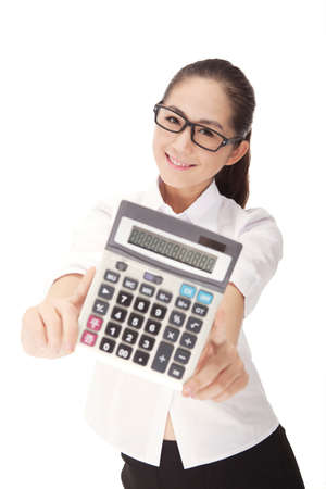 Business woman with calculator