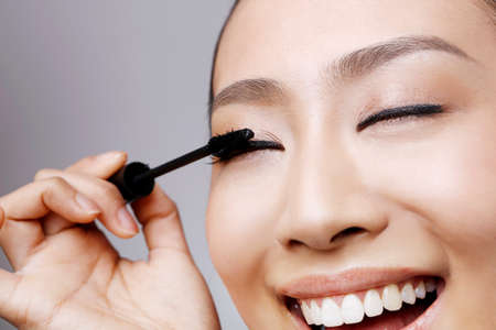 young woman makeup Banque d'images